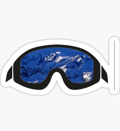 Mountain Ski Goggles Sticker Sticker
