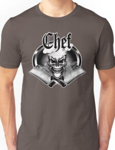 Chef Skull and Cleavers 1 Unisex T-Shirt