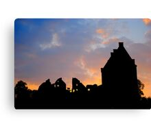 Chateau Sunset Canvas Print