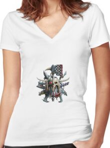 Orks Banner Warhammer  Women's Fitted V-Neck T-Shirt