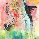 Abstract Hummingbird  by Faith Magdalene Austin