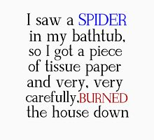 I SAW A SPIDER IN MY BATHTUB Womens Fitted T-Shirt