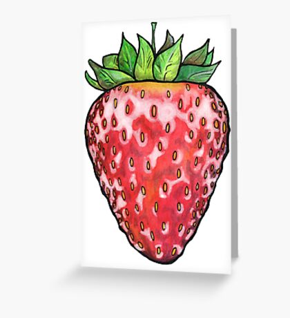 Strawberry Shine Greeting Card