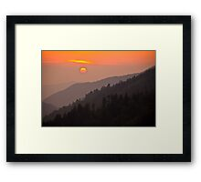 A Smoky Mountain Sunset 7:44pm Framed Print