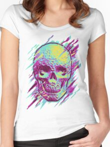 Bright Skull Women's Fitted Scoop T-Shirt