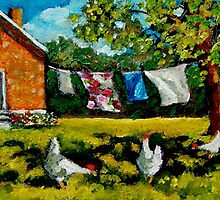 The Chickens in the Backyard by Joyce