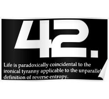 The meaning of life is 42 Poster