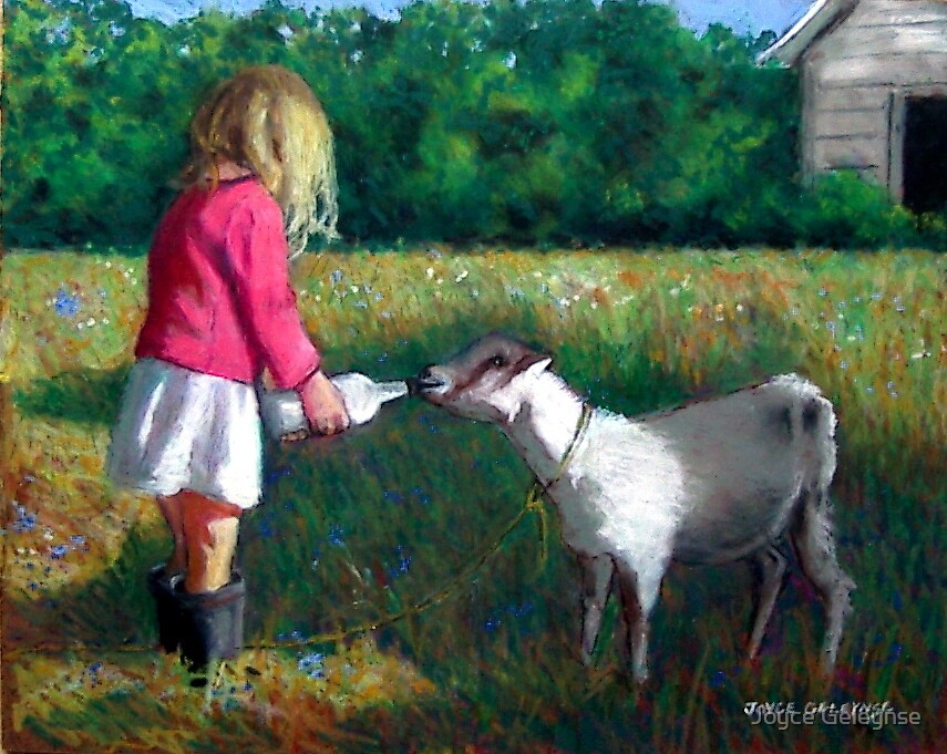 Feeding the Goat by Joyce Geleynse