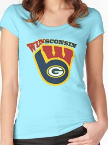 WinSconsin 2.0 Women's Fitted Scoop T-Shirt