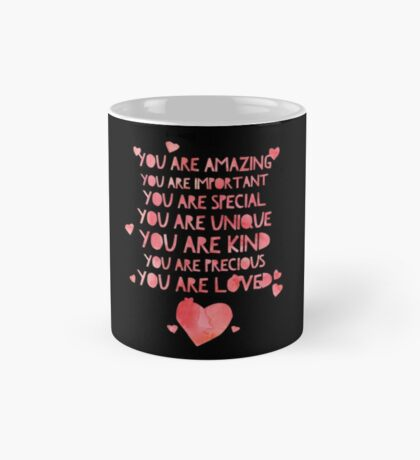 Cute You Are Loved - Best Gift for Him, Her, Boyfriend, Girlfriend, Husband, Wife, Couples, Men, Women, Mom, Dad, Grandma, Brother or Friends Mug