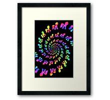 Rainbow Pony Spiral Explosion Framed Print