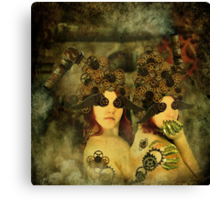 Companions in clockwork Canvas Print