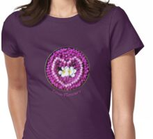 LOVE Flowers Floating into a Heart Womens Fitted T-Shirt