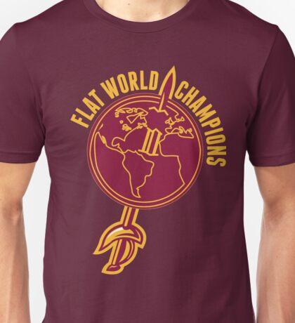Flat World Champions (Gold/Wine) Unisex T-Shirt