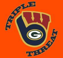 WinSconsin Triple Threat Kids Tee