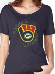 WinSconsin Triple Threat Women's Relaxed Fit T-Shirt