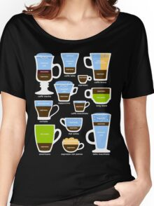 Espresso Coffee Drinks Guide Women's Relaxed Fit T-Shirt