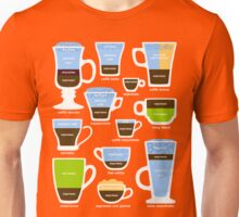 Espresso Coffee Drinks Guide Unisex T-Shirt