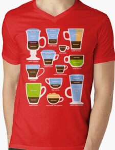 Espresso Coffee Drinks Guide Mens V-Neck T-Shirt