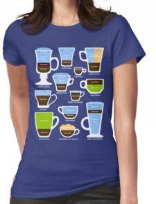 Espresso Coffee Drinks Guide Womens Fitted T-Shirt
