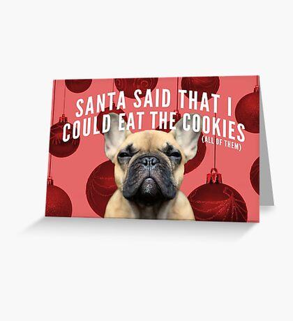 Cookies From Santa Greeting Card