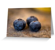 Blueberry Trio Greeting Card