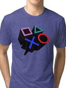 playstation logo Tri-blend T-Shirt