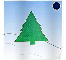 Wintery Scene Poster