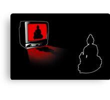 Idiot Box, False Idol or just Absurd? (Techno Buddha vs Idol TV) Canvas Print