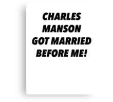 Manson Married Canvas Print