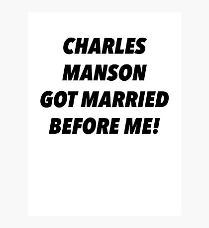 Manson Married Photographic Print