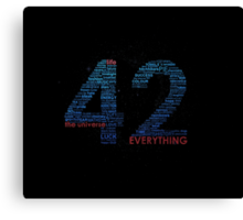 Life, The Universe, and Everything Canvas Print