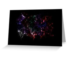Colored Galaxy Greeting Card