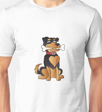 funny dog cartoon sitting. Adopt a dog Unisex T-Shirt