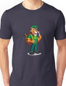 Funny cartoon Tiger Mascot Unisex T-Shirt