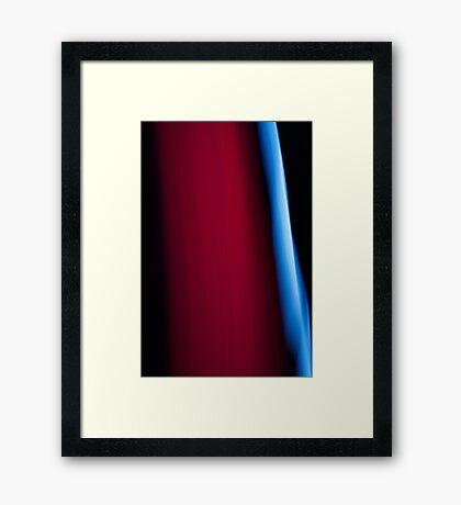 Red Falls Framed Print