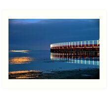 Reflections on Corio Bay. Art Print
