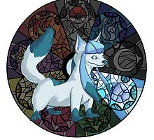 Eeveelution Stained Glass - Glaceon by Keev