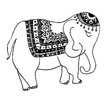 Asian/Indian Inspired Elephant Photographic Print