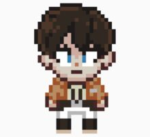 Attack on Titan - Eren Jaeger Pixel Sprite - Chibi by geekmythology