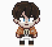 Attack on Titan - Eren Jaeger Pixel Sprite - Chibi by geekmythology