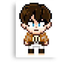 Attack on Titan - Eren Jaeger Pixel Sprite - Chibi Canvas Print