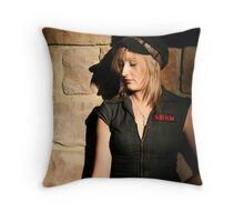 Skid Row Throw Pillow