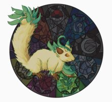 Eeveelution Stained Glass - Leafeon Kids Clothes