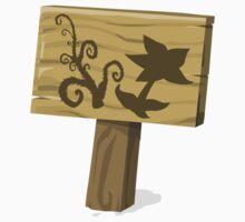 Glitch Ilmenskie Land garden sign herb 01a g1 Kids Tee