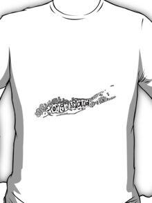 Hipster Long Island Outline T-Shirt