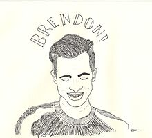fine liner sketch of Brendon Urie from panic! at the disco by Milly S-W