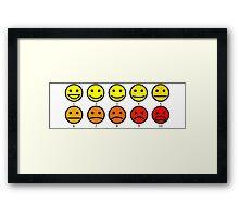 "Baymax ""How are you feeling"" Emojis Framed Print"