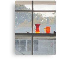 Orange glass dull day Canvas Print