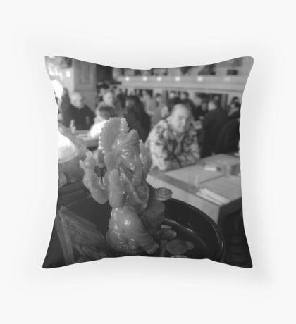 Chocolate Buddha Throw Pillow